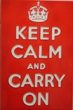 Keep Calm and Carry On 8x12