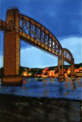 Tamar Bridge, Plymouth 8x12