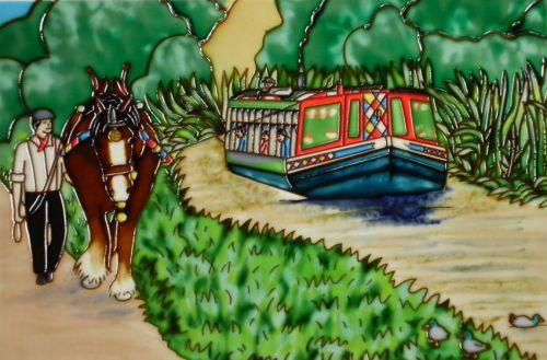 Horse Drawn Barge 8x12