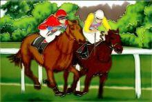 Racehorses 8x12